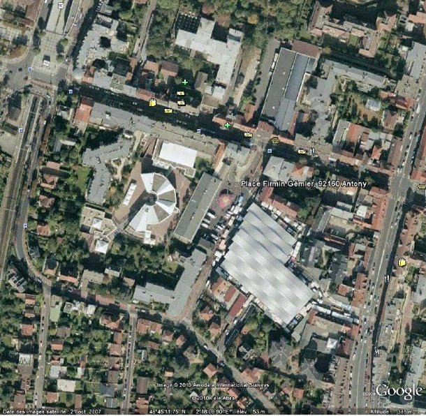 Antony centre par Google Earth